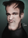 Cartoon: Quentin Tarantino (small) by Quidebie tagged quentin,tarantino,caricature,karikatuur,movie,star,film