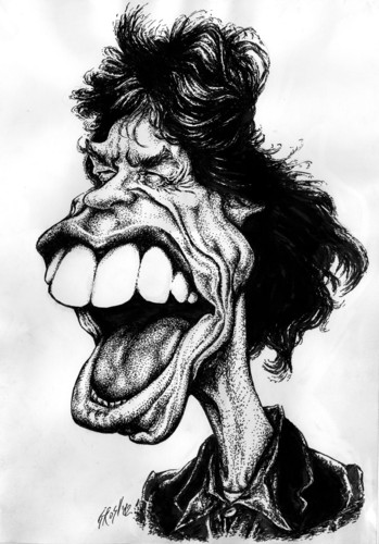 Cartoon: Mick Jagger (medium) by Grosu tagged rock,music,mick,jagger,rolling,stones