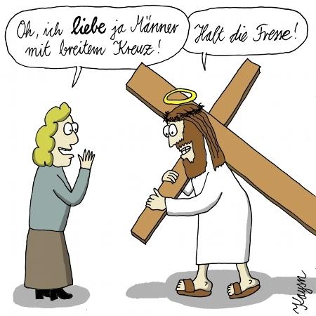 Cartoon: Jesus sein Kreuz (medium) by KAYSN tagged jesus,kreuz