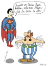 Cartoon: Superman vs. Obelix (small) by KAYSN tagged superman obelix fliegen super hero