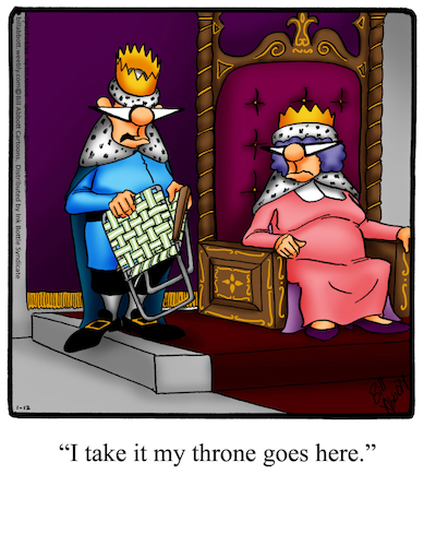 Cartoon: Throne (medium) by Billcartoons tagged king,queen,royals,throne,royalty,husband,wife,marriage,romance,romantic,love
