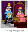 Cartoon: Throne (small) by Billcartoons tagged king,queen,royals,throne,royalty,husband,wife,marriage,romance,romantic,love