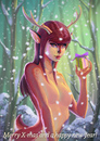 Cartoon: Oh Deer! Holiday greetings (small) by fantasio tagged deer,ipad,painting,holiday,card