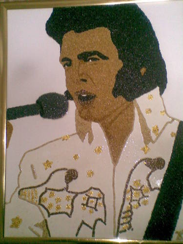 Cartoon: Elvis Presley (medium) by dkovats tagged elvis