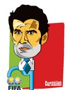 Cartoon: Figo a Presidente da FIFA (small) by jose sarmento tagged figo,presidente,da,fifa