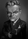 Cartoon: Cagney (small) by JMSartworks tagged caricature,actors,filmmakers,hollywood,paintool,sai,painter