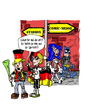 Cartoon: Fans (small) by Toeby tagged fans cosplay batman fußball toeby mark töbermann