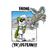 Cartoon: Frohe Ostern (small) by Toeby tagged eis frost gruß kalt osterhase ostern superheld toeby mark töbermann