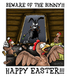 Cartoon: Happy Easter 2011 (small) by Toeby tagged easter,bunny,rabbit,chicken,eastereggs,toeby,mark,töbermann