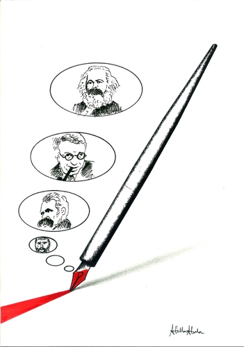 Cartoon: Cartoon and Philosophy (medium) by Atilla Atala tagged cartoon,philosophy