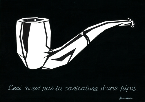 Cartoon: Respect to Rene Margritte (medium) by Atilla Atala tagged rene,margritte,surrealism,michel,foucault,pipe