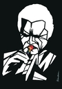 Cartoon: Chet Baker (small) by Atilla Atala tagged jazz,trumpet