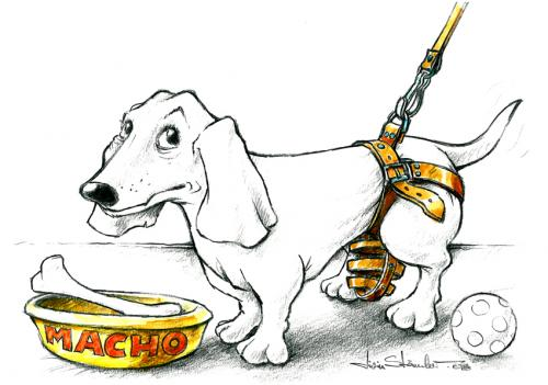 Cartoon: Good dog (medium) by Liviu tagged leech,dog,macho,