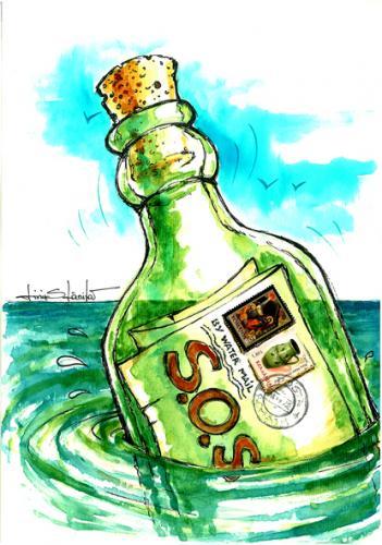 sos By Liviu | Philosophy Cartoon | TOONPOOL