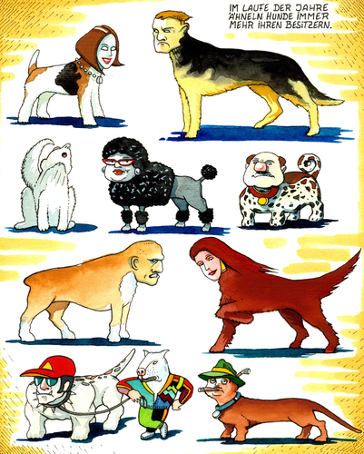 Cartoon: Hunde (medium) by Pohlenz tagged hunde,hunde,hund,tiere,tier,sytle,lifestyle