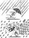 Cartoon: Hard Rain (small) by Pohlenz tagged justice,law