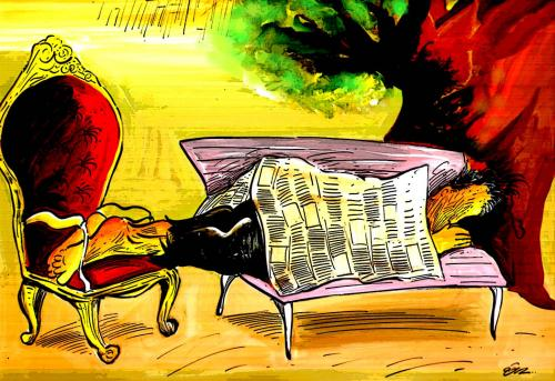 Cartoon: armchair (medium) by oguzgurel tagged humor