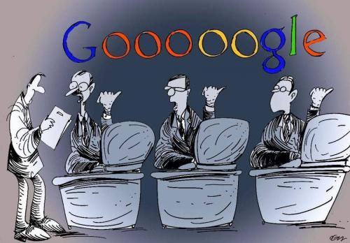 Cartoon: google (medium) by oguzgurel tagged humor