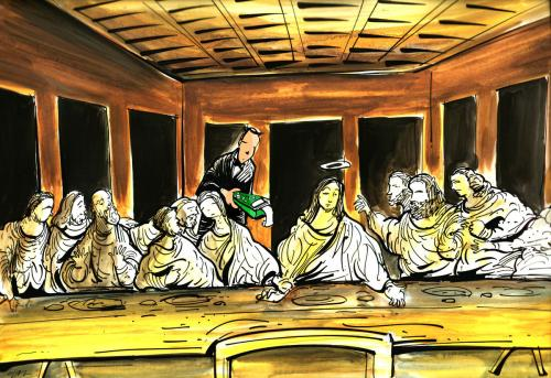 Cartoon The Last Supper
