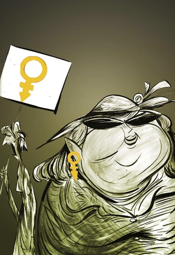 Cartoon: Woman-s-day (medium) by oguzgurel tagged humor
