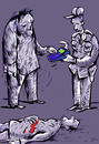 Cartoon: chastisement (small) by oguzgurel tagged humor
