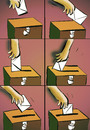 Cartoon: election (small) by oguzgurel tagged humor