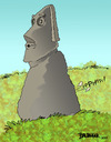 Cartoon: Easter Island Gas (small) by dbaldinger tagged monuments idols sculpture ancient mysterious easter island head