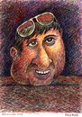 Cartoon: Firuz Kutal (small) by dbaldinger tagged firuz,kutal,caricature,portrait