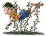 Cartoon: GMO Danger (small) by dbaldinger tagged gmo,agriculture,farming,dna,hazards
