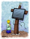 Cartoon: Tis The Season (small) by dbaldinger tagged consumerism,christmas,walmart,crucification,television