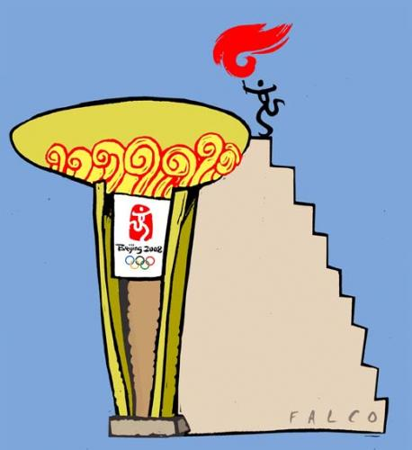 Cartoon: Beijing 2008 (medium) by alexfalcocartoons tagged beijing,2008,olympic,games,sport