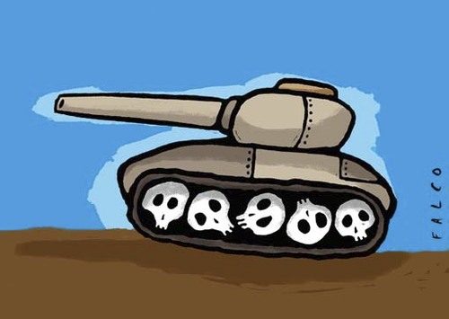 tank By alexfalcocartoons | Politics Cartoon | TOONPOOL