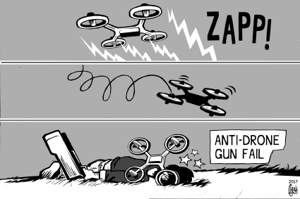 Cartoon: Anti drone gun (medium) by sinann tagged anti,drone,gun