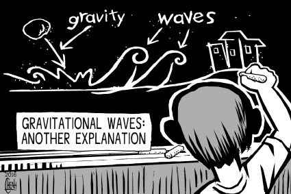 Gravitational waves By sinann | Education & Tech Cartoon | TOONPOOL