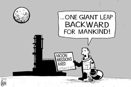 Cartoon: Moon missions (medium) by sinann tagged moon,missions,axed,scrapped,one,giant,leap,mankind