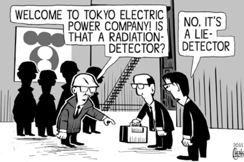 Cartoon: Tokyo Electric lie detector (medium) by sinann tagged tepco,lie,radiation,detector,tokyo,electric