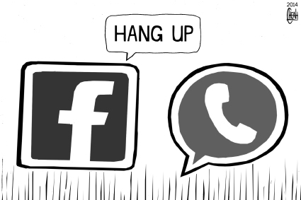 Cartoon: WhatsApp (medium) by sinann tagged whatsapp,facebook