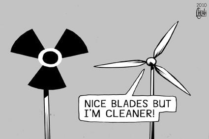 wind turbines cartoon. Cartoon: Wind farm blades