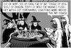 Cartoon: Coronavirus witches (small) by sinann tagged corona,virus,soup,witches,bat,brew,macbeth