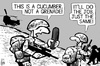 Cartoon: Deadly cucumber (small) by sinann tagged cucumber,deadly,grenade
