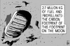 Cartoon: Moon landing anniversary (small) by sinann tagged moon,footprint,carbon,apollo,11,first,man
