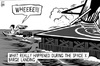 Cartoon: Space X landing disaster (small) by sinann tagged space,ocean,barge,landing,disaster