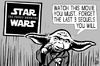 Cartoon: Star Wars Force awakens (small) by sinann tagged star,wars,force,awakens,sequels