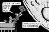 Cartoon: Supermoon landing (small) by sinann tagged supermoon,lunar,landing