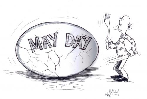Cartoon: May Day (medium) by fredhalla tagged what,
