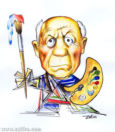 Image result for pablo picasso cartoon
