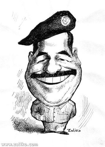 Image result for saddam cartoons