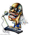 Cartoon: Stevie Wonder (small) by zaliko tagged stevie,wonder,caricature
