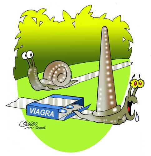 Cartoon: Viagra (medium) by Salas tagged snail,