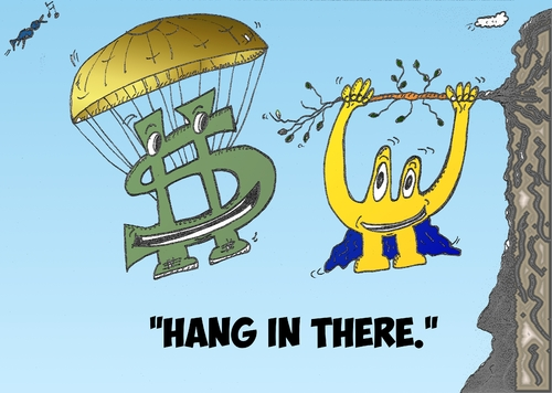 Falling Dollar Euro Cartoon By Binaryoptions Business Cartoon